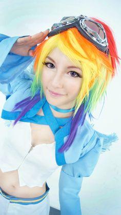 Rainbow Dash (steampunk) cosplay