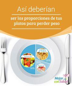 """Así deberían ser las proporciones de tus platos para perder peso  No es cuestión de """"obsesionarnos"""" con las proporciones de comida distribuida en nuestros platos. Sin embargo, algo tan sencillo como controlar el tipo de nutrientes y su adecuada cantidad, podría ayudarnos a cuidar de nuestra línea."""