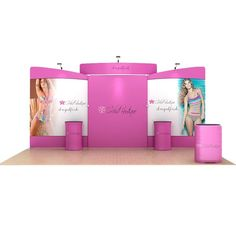 """Basic Kit includes:  Aluminum frame Full color backdrop graphics - one sided    Loaded Kit additions:  Header - hardware and graphic - Choice of curved or straight 3LED lights 2 CA900 Cases 1 case-to-counter graphic wrap 2 39"""" counters with graphic"""