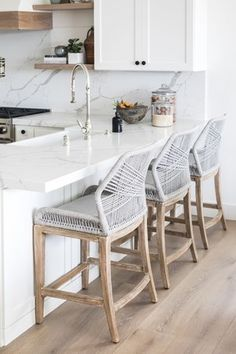 These crowd faves will be coming to the Pure Salt shoppe soon, along with a full line of exclusive furniture! Keep your eyes peeled 👀 // 📷: Home Design, Beach Interior Design, Interior Paint, Interior Ideas, Design Ideas, Condo Kitchen, Home Decor Kitchen, Home Kitchens, Kitchen Ideas
