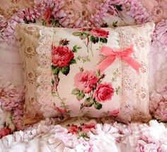 rosy and sooo pretty scatter cushion