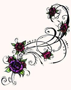 Stunning Floral Tattoo Sample