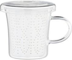 Weave Mug with Porcelain Infuser  | Crate and Barrel