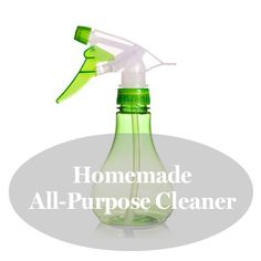 "Homemade all-purpose cleaner ""recipe"" (so easy!)"