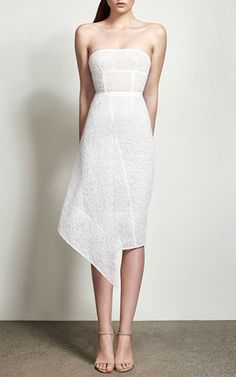 Katherin Strapless Lace Pencil Dress by ALEX PERRY for Preorder on Moda Operandi