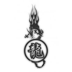 year of the dragon tattoo | Home / Chinese year of the Dragon with Symbol Tattoo