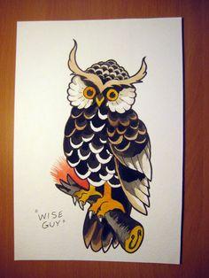Sailor Jerry Sailor Jerry Owl Tattoos