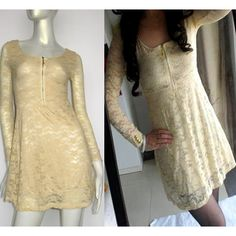 Sexy Ginger Long Sleeve Lace Short Mini Cocktail Party Dresses for Women SKU-0602045