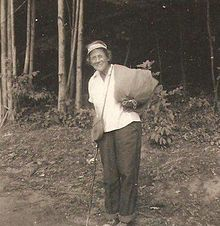 Emma Gatewood, the 67 year old mother of 11 and grandmother who was the first woman to thru hike the Appalachian Trail.