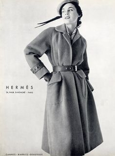 Hermès (Couture) 1954 Coat, Belt | The House of Beccaria