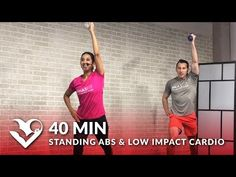 40 Min Standing Abs & Low Impact Cardio Workout with No Jumping – Standing Ab Quiet Low Impact HIIT - YouTube