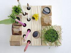 Desk Organizer, Desktop Zen Garden, Natural Wood By KarolinFelixDream - contemporary - desk accessories - Etsy