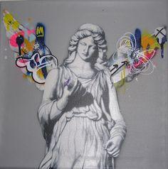 Spray Paint On Canvas, Pop Surrealism, Stencils, Angel, Inspire, Artists, Mini, Glass, Painting