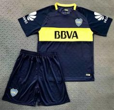 2017 Cheap Youth Kit Boca Juniors Home Replica Navy Suit [BFC346]