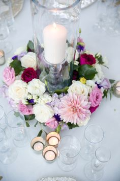 """Here's another beautiful table arrangement we did recently at Circle Oak Ranch - so lush and pretty! And one lucky couple is going to win their ENTIRE wedding at this gorgeous venue with the BEST team of vendors - yes, we're giving away a whole wedding in our #CircleOakRanch """"Pin It To Win It"""" contest!! Go to www.MichelleGaribayEvents.com for details on how to enter. Photo by #leahmariephotography #rsvpfloralstudio #weddinggiveaway #temeculaweddingflorist"""