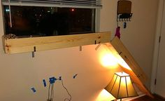 Built my pup a platform to look out the window ( Looking Out The Window, Funny Dog Pictures, Handmade Crafts, Diy Tutorial, Pup, Diys, Platform, Decor Ideas, Windows