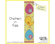 Bead Loom Pattern - Chicken n Egg - INSTANT DOWNLOAD pdf - 3 for 2 offer with coupon codes - bl241