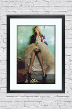 Kate Moss - Kate Moss - Union jack - Large Mounted & Framed Poster Art Print A2 - 31 x 24 Inches ( 75 x 61 cm ) by TheRedbusGallery on Etsy https://www.etsy.com/uk/listing/465040927/kate-moss-kate-moss-union-jack-large
