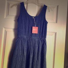 Mossimo Waterloo Blue Lacy Dress
