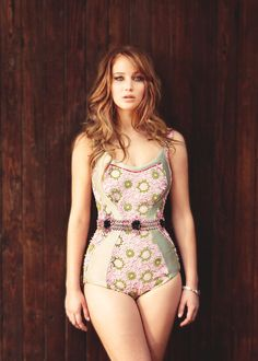 """First, people say how so many actresses in Hollywood look anorexic, and now they are criticizing me for looking normal."" Jennifer Lawrence"
