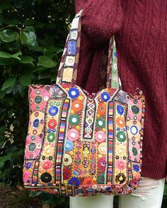 Embroidered bag from Rajasthan Embroidered Bag 6c6202d6a2d06