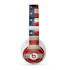 The Wooden Grungy American Flag Skin for Beats by Dre Studio Solo 3 Wireless, Mixr, EP, Pro, Pill Cute Headphones, Sports Headphones, Bluetooth Headphones, Beats By Dre, Cheap Beats, Beats Audio, Phone Deals, Fashionable Snow Boots, Shops