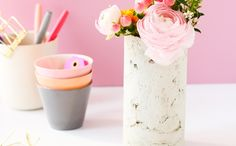 Use a Mailing Tube to Make a Concrete Vase via Brit + Co.