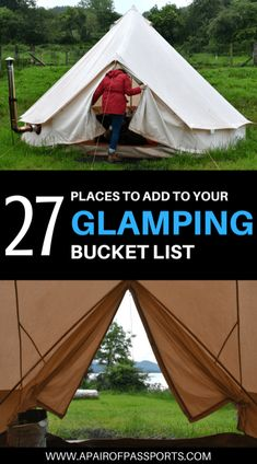 GLAMPING GOALS | The Dreamiest Glamping Destinations in the World | We worked with other bloggers to compile the best glamping destinations around the world | A Pair of Passports