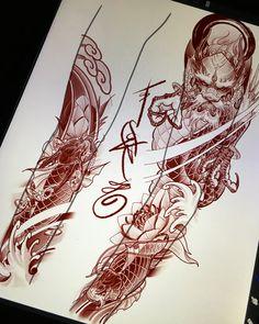 Fun stuff comin up 🤫 tattoos japanese tattoo art, japan tattoo, sleeve tat Japanese Dragon Tattoos, Japanese Tattoo Art, Japanese Tattoo Designs, Japanese Sleeve Tattoos, Asian Tattoos, Up Tattoos, Body Art Tattoos, Tattoos For Guys, Dragon Tattoo Designs