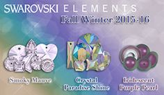 With its Fall/Winter 2015 release, Swarovski delivers three beautiful colors – Smoky Mauve, Crystal Paradise Shine and Crystal Iridescent Purple Pearl. There are plenty of new styles to ignite your creativity as well. New offerings include the Vision Designer Edition, Starlet and Curvy Flatbacks, Cross and Arrow Beads, and Queen and Sun Pendants. Visit our site to view the entire collection. www.harmanbeads.com