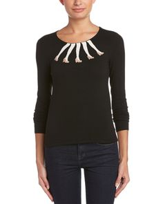 alice + olivia Intarsia Legs Boxy Crew Neck Sweater is on Rue. Shop it now.