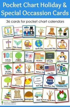 Pocket Chart Holiday and Special Occasion Calendar Cards - Handprint Kindergarten Special Day Calendar, Calendar Time, Holiday Calendar, Free Calendar, Kids Calendar, Calendar Notebook, Daily Calendar, Preschool Calendar, Classroom Calendar