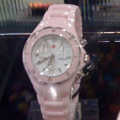 Ceramic Michele watch in pink.  It needs me.
