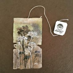 ruby silvious art : 363 days of tea. Tea Bag Art, Tea Art, Paper Art, Paper Crafts, Creation Art, Arte Floral, Recycled Art, Art Journal Inspiration, Medium Art