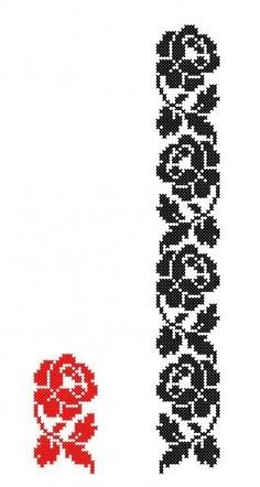 Cross Stitch Borders, Simple Cross Stitch, Cross Stitch Rose, Cross Stitch Flowers, Cross Stitch Designs, Cross Stitching, Cross Stitch Embroidery, Cross Stitch Patterns, Bead Embroidery Patterns