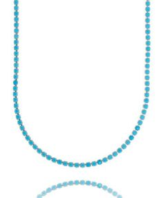 colar da moda riviera com zirconia turquesa e banho de rodio semi joias sofisticadas