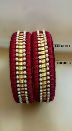 Maroon Silk Thread Bangles
