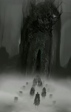 """fantasy-art-engine: """"Misty Riders by Ghostbow """" Dark Fantasy Art, High Fantasy, Medieval Fantasy, Fantasy World, Dark Art, Illustration Art, Illustrations, Fantasy Places, Fantasy Setting"""