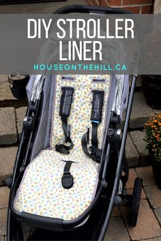 DIY Stroller Liner overview and notes from an Etsy pattern. Need a way to quickly and beautifully create a stroller liner for your baby? Click through to read how I made one for my Uppababy Vista 2015 in the post! Follow me on Instagram and Twitter to get sneak peeks of projects I am working on.
