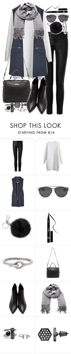 """""""Untitled #18939"""" by florencia95 ❤ liked on Polyvore featuring J Brand, Topshop, Christian Dior, Michael Kors, Acne Studios, Linea Pelle, Simply Vera, women's clothing, women's fashion and women"""