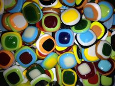 Beautiful fused stained glass mosaic tiles exclusively at Mosaic Tile Mania.