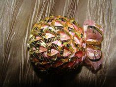 Dekorácie - Vianočná guľa s drôtom - 4700197_