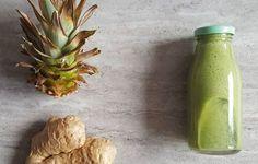 Odchudzający zielony koktajl oczyszczający, dobry na detoks Celery, Zucchini, Smoothies, Vegetables, Ethnic Recipes, Green, Asia, Fitness, Pineapple