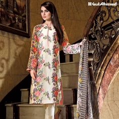Gul Ahmed silk fabric Dresses 2016 with prices