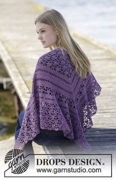 Evening In Paris Shawl By  DROPS Design - Free Crochet Pattern - (garnstudio)
