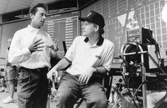 Brian Grazer and Ron Howard on-set of Apollo 13 Apollo 13 1995, Brian Grazer, Ron Howard, Kevin Bacon, Tom Hanks, Scene Photo, On Set, Nasa, Behind The Scenes