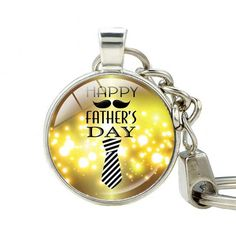 Keychain Silver Plated Keychain for Keys High Quality Happy Father's Day Gifts Handmade Jewelry