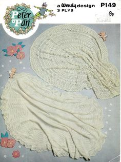 PDF File Vintage Baby Shawls Knitting Pattern by NostalgiaPatterns, £1.49