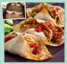 Wonton Taco Shells - Fun appetizer, and it's a little healthier than your traditional taco shells :)