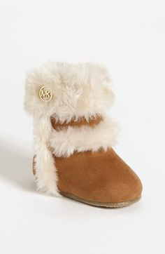 MICHAEL Michael Kors 'Grace' Boot (Baby) available at ugg=bad. Baby Boots, Baby Girl Shoes, Girls Shoes, Kids Boots, Baby Girls, Mk Handbags, Handbags Michael Kors, Michael Kors Bag, Cheap Michael Kors
